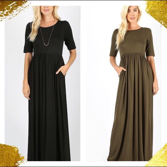 Zenana Outfitters Dresses Plus Size Long Dress With Pockets Poshmark
